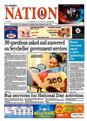 History of the Seychelles NATION newspaper.