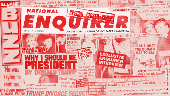 How The National Enquirer Covered Trump In The \'90s.