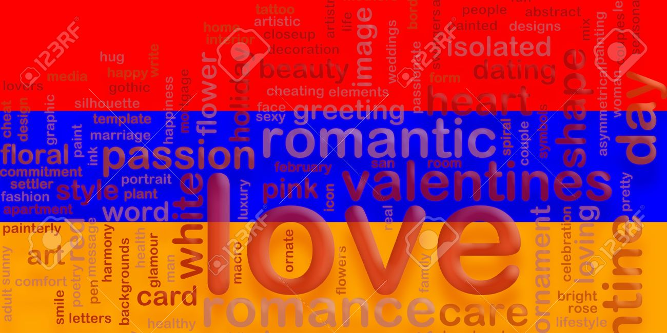Flag Of Armenia, National Symbol Illustration Clipart Love Romance.