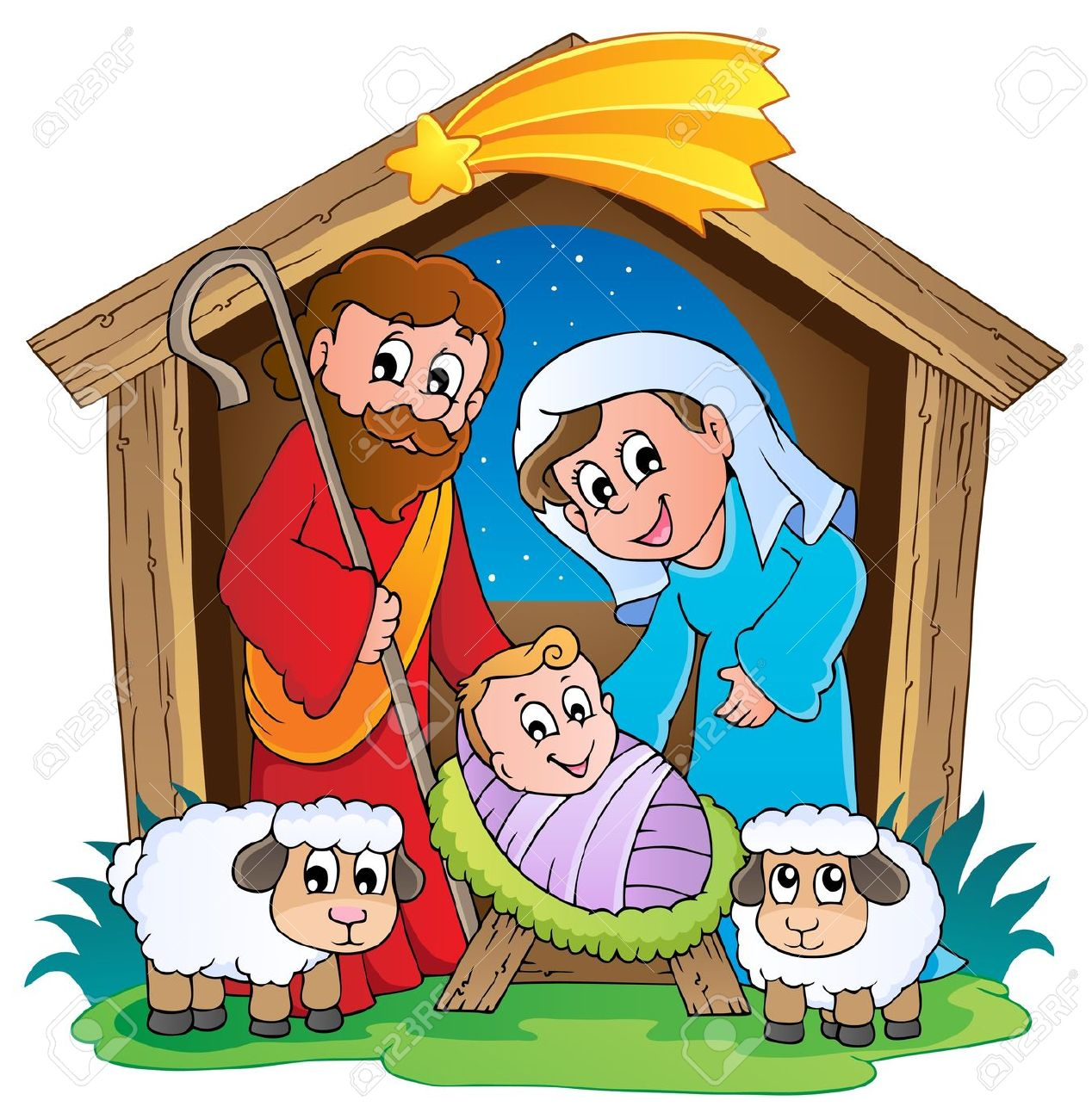 Clip Art of the Nativity.