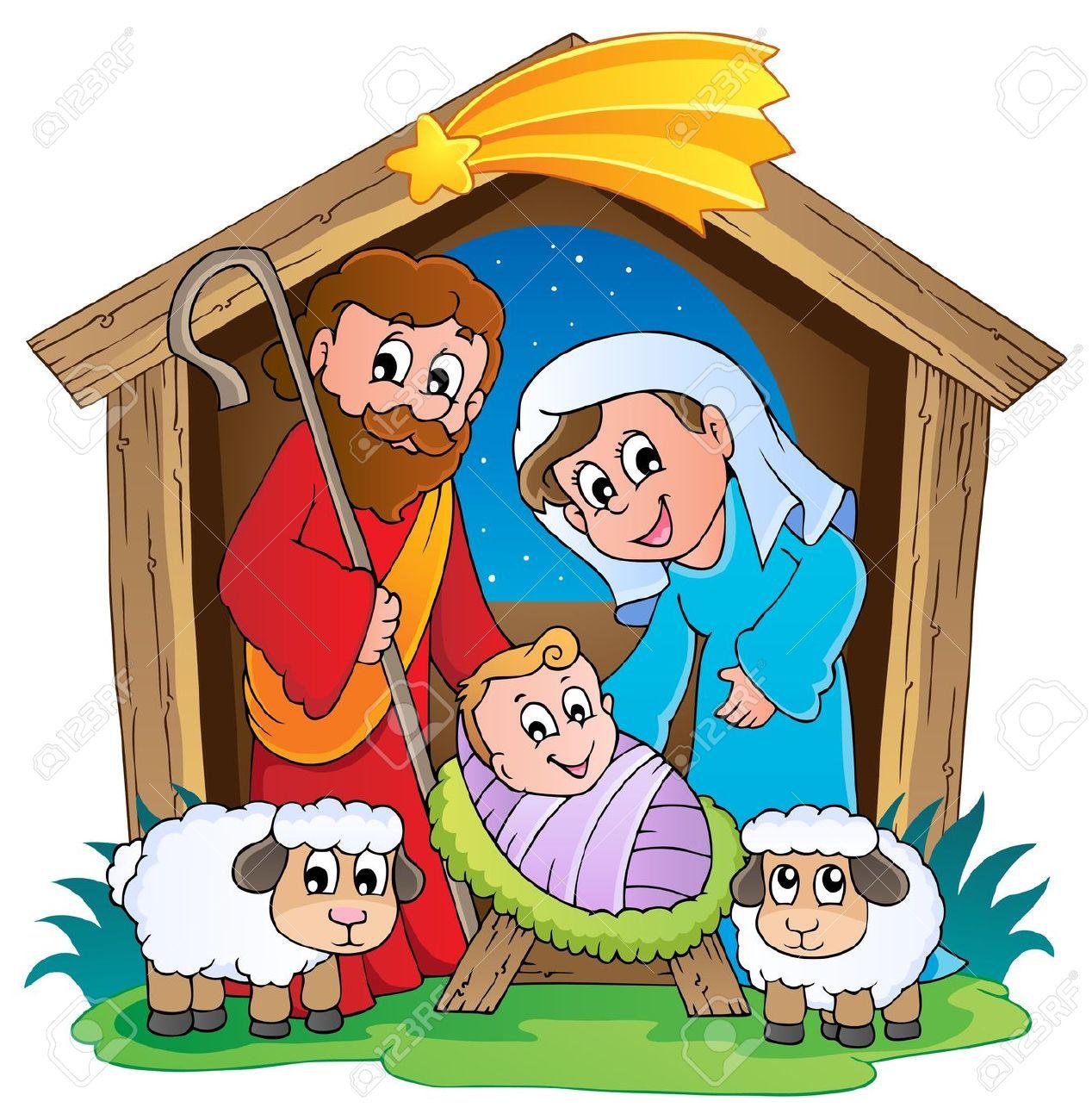 Clip Art of the Nativity.