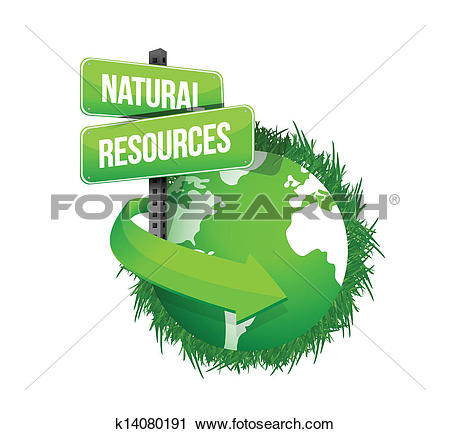 Clipart of natural resources concept illustration k14080191.