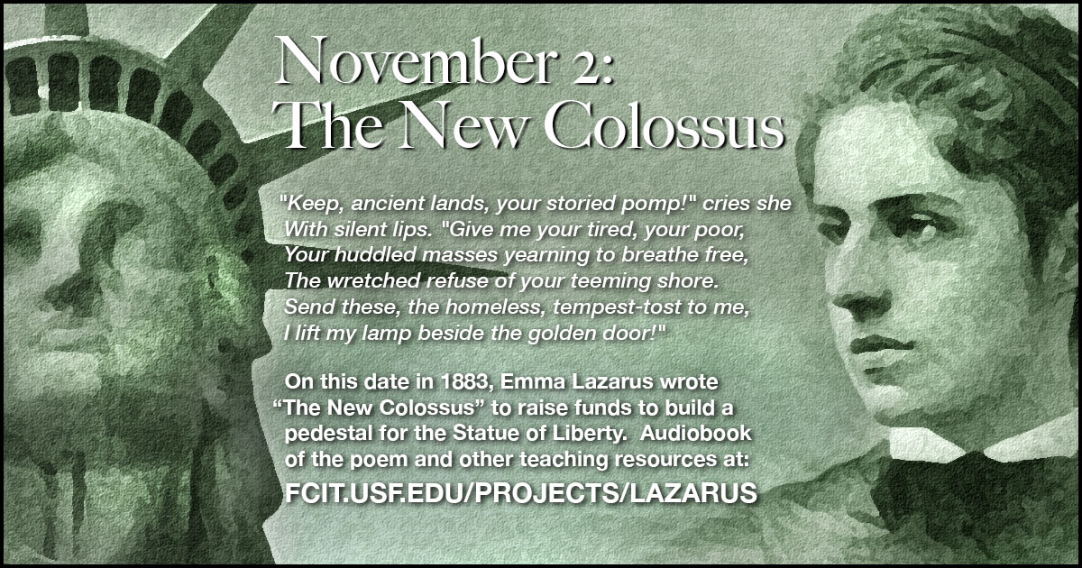 November 2: The New Colossus.