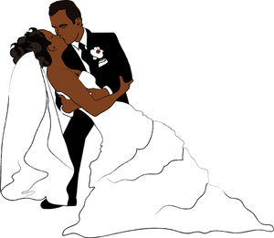 Newlyweds Clipart Image.