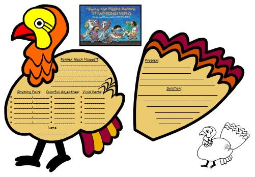 Twas the Night Before Thanksgiving Lesson Plans and.