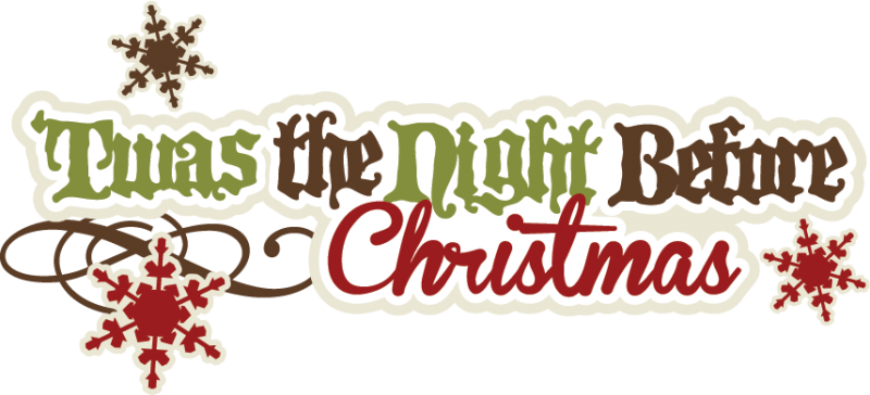 The night before christmas clipart.