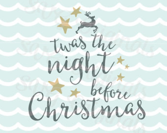Twas the night before christmas clipart.