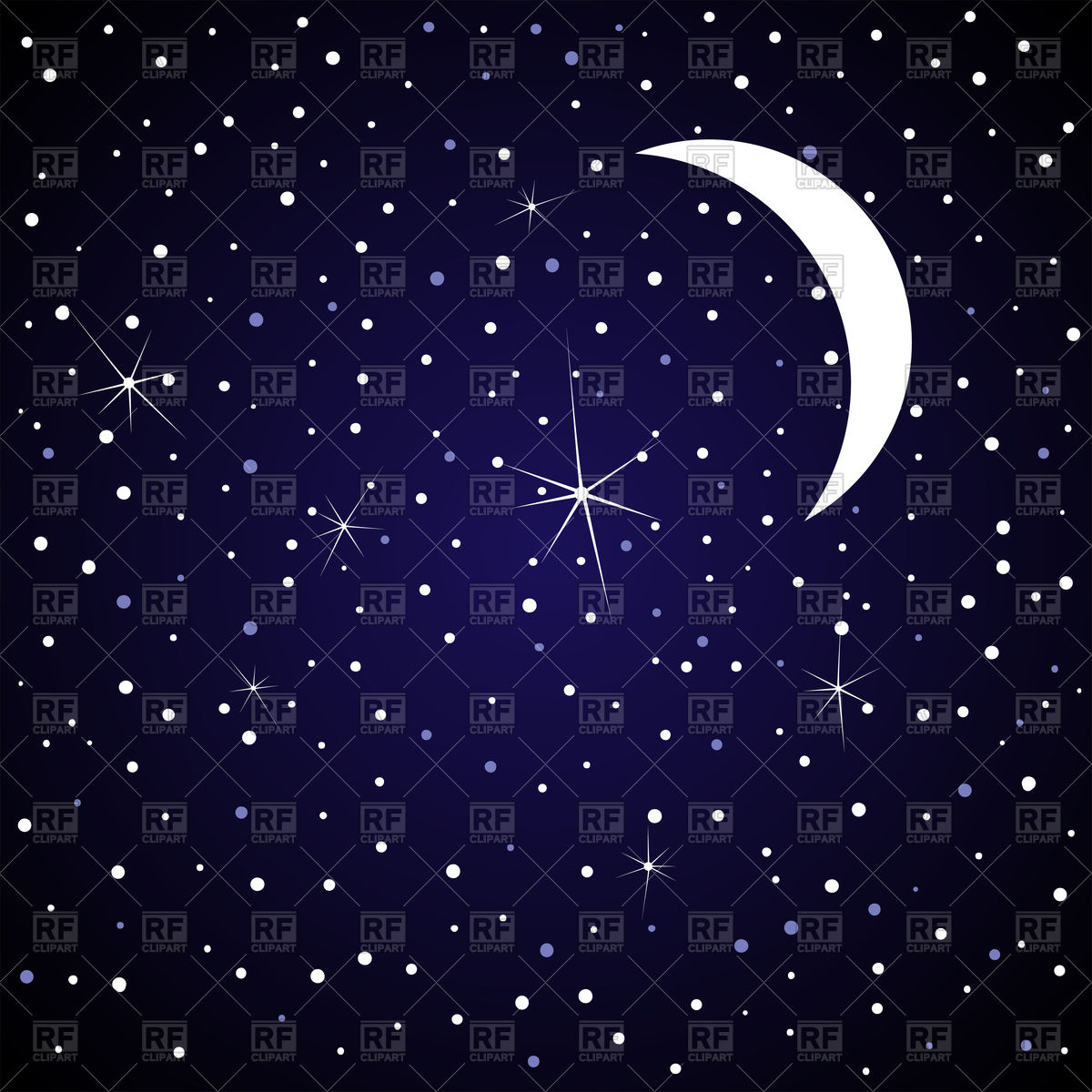 Stars in the night sky clipart.