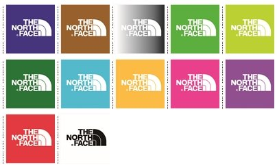 24 wall decals stickers The North Face logo. Good size: 4.