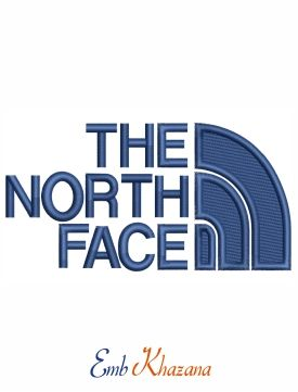 The North Face Logo embroidery design in 2019.