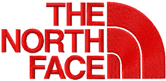 The North Face logo embroidery design.