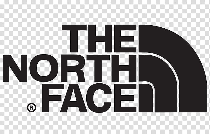 The North Face Logo, Backpack, Text, Area, Black And White.