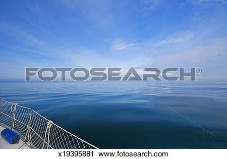 Stock Photography of Sailing in the North Sea, dead calm x19395881.