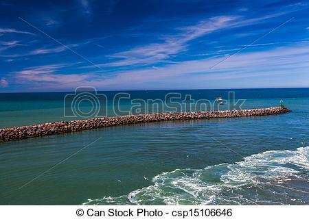 Stock Photo of North Sea at Denmark.