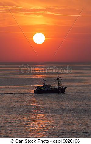 Stock Image of Fishing Trawler.