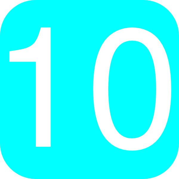 Light Blue, Rounded, Square With Number 10 Clip Art at Clker.