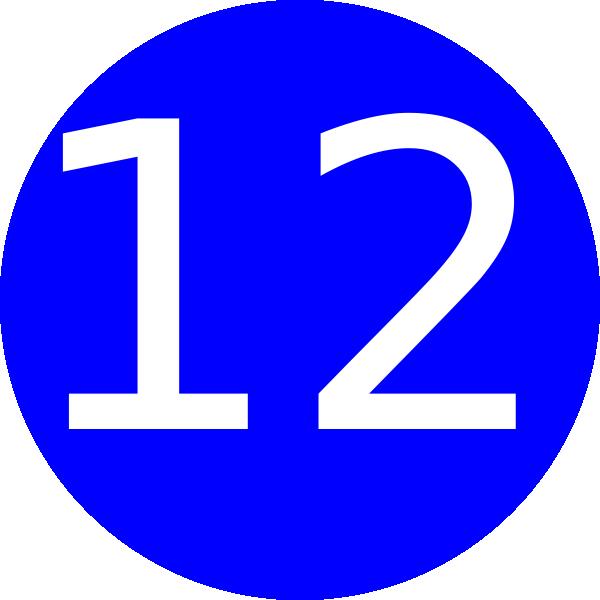 Number 12 Blue Background Clip Art at Clker.com.