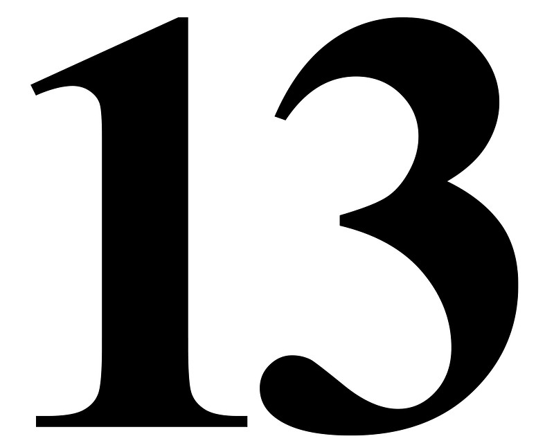 Number 13 Cliparts.