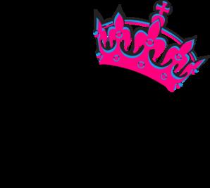 Pink Tilted Tiara And Number 13 clip art.
