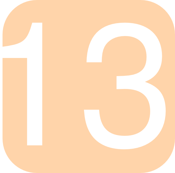 Orange, Rounded, Square With Number 13 Clip Art at Clker.com.