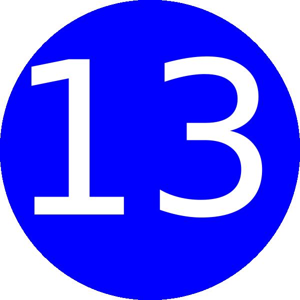 Number 13 Blue Background Clip Art at Clker.com.