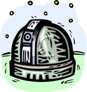 Observatory Clip Art Image.