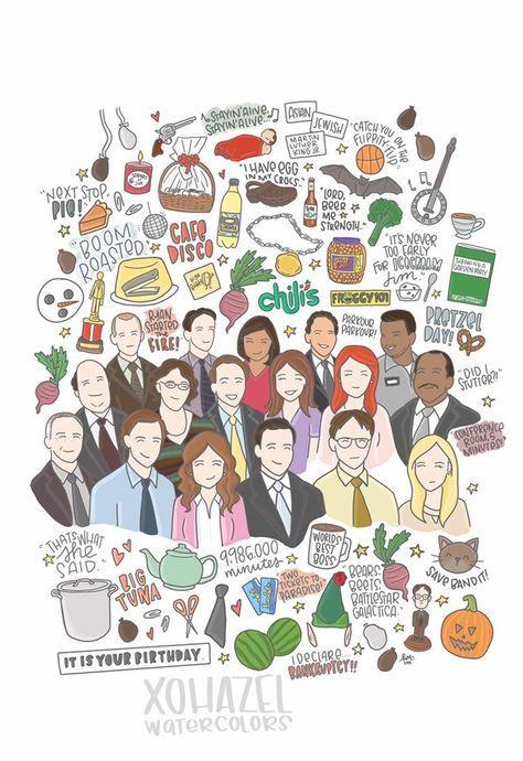The Office Illustration Print.