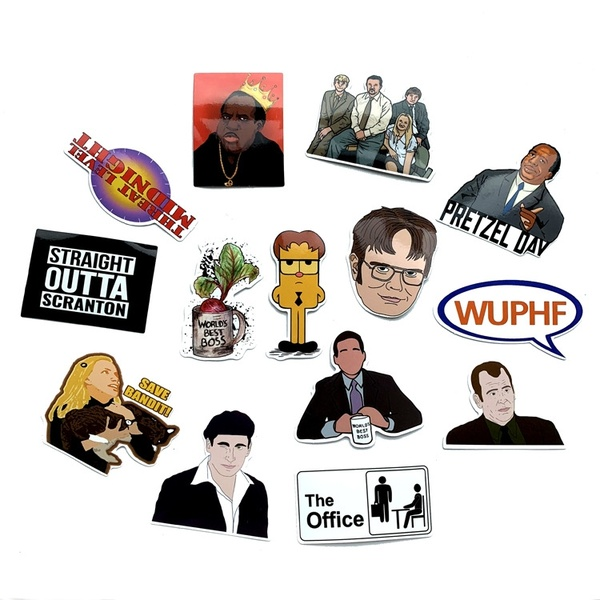 62pcs/set The office tv show Stickers 90s Art print home decor wall  notebook phone luggage laptop bicycle scrapbooking album decals.