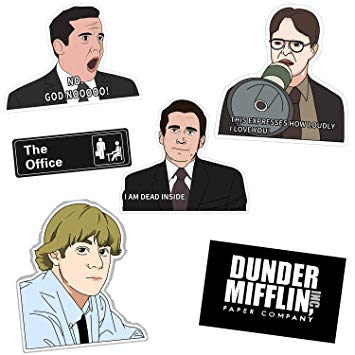 The Office Stickers,TV Show Office Decal Waterproof Vinyl Stickers Pack  with Michael, Dwight, Jim for Laptop, Notebook, HydroFlasks Bottles,.