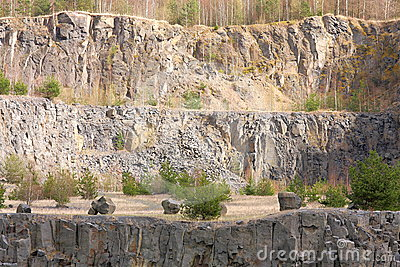 Old Quarry Royalty Free Stock Photo.