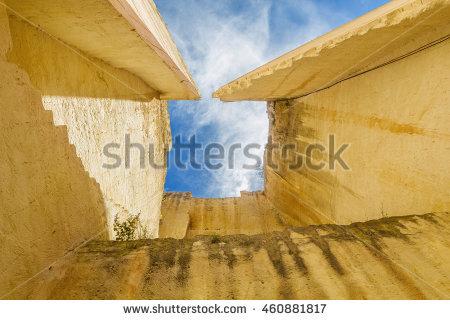 Lithica Pedreres Des Hostal Old Quarry Sandstone High Walls At.