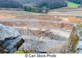 Stock Photo of Limestone wall in quarry Big Amerika, Czech.