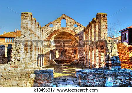 Picture of Old temple ruins in Nessebar k13495317.