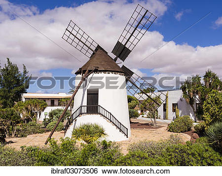"""Stock Images of """"The windmill in the open air museum of Antigua."""