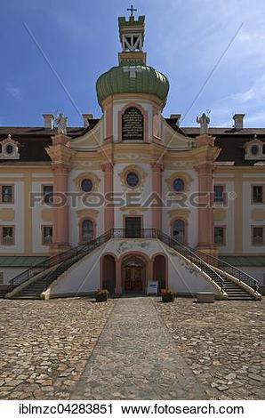 Stock Photography of Cistercian abbey monastery Stift St.