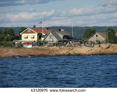 Stock Images of Oslo fjord near Tofte, Norway, Scandinavia.