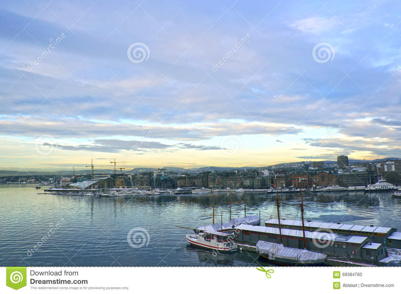 View Of Oslo And The Oslo Fjord. Norway Stock Photo.