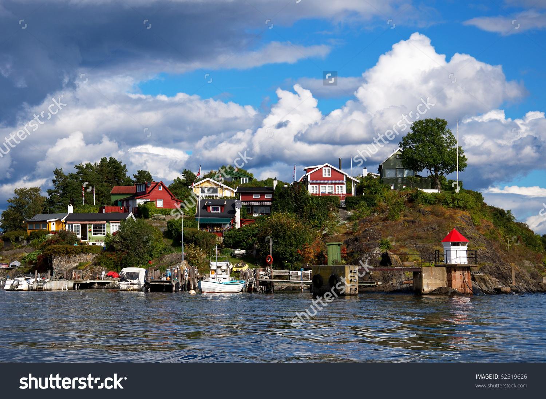 Oslo Fjord Near City Oslo Norway Stock Photo 62519626.