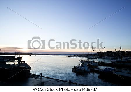 Picture of Dock at Dusk.
