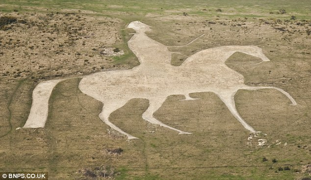 Centuries old chalk horse landmark created for King George III and.
