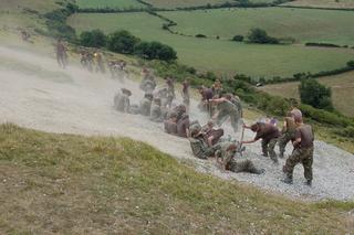 Restoration of the Osmington White Horse, Dorset.