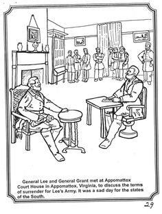 Clipart general robert e lee surrenders at appottomox court house.
