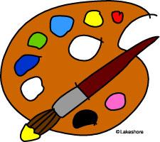 Artist Palette Clipart.