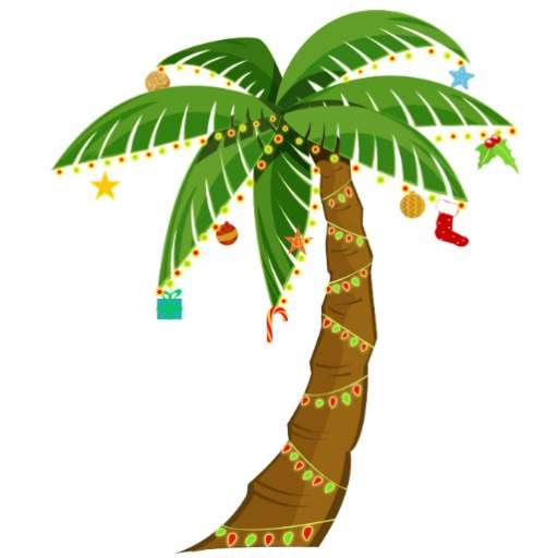 Clip art christmas palm tree clipart wikiclipart.