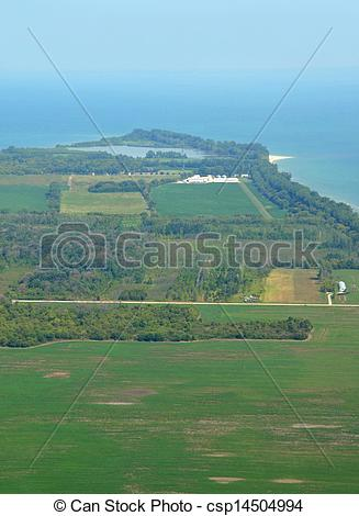 Stock Photographs of Pelee Island aerial.