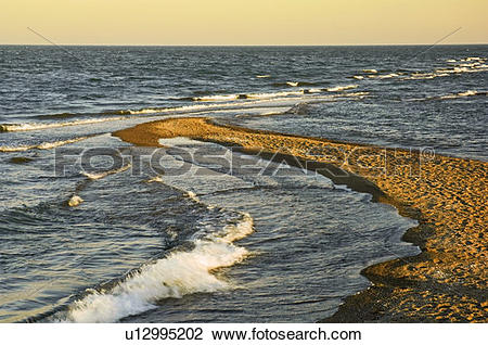 Stock Photo of Sand spit at the Lake Erie end of Point Pelee.