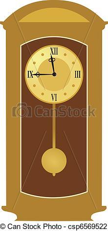 Vector Illustration of pendulum clock csp6569522.