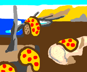 The Persistence of Memory, with Pizzas.