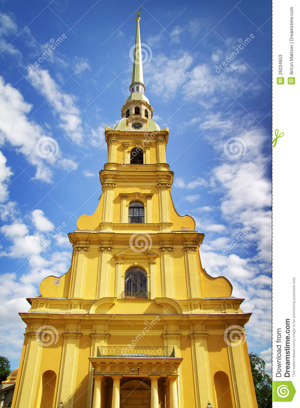 Peter And Paul Fortress. St. Petersburg Stock Photos.