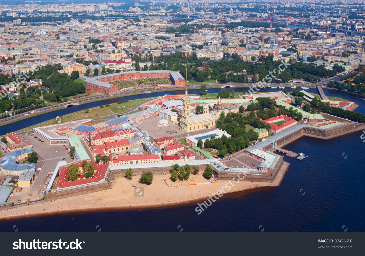 Peter And Paul Fortress In Saint Petersburg, Russia Stock Photo.